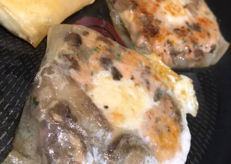 Feuille de brick au saumon
