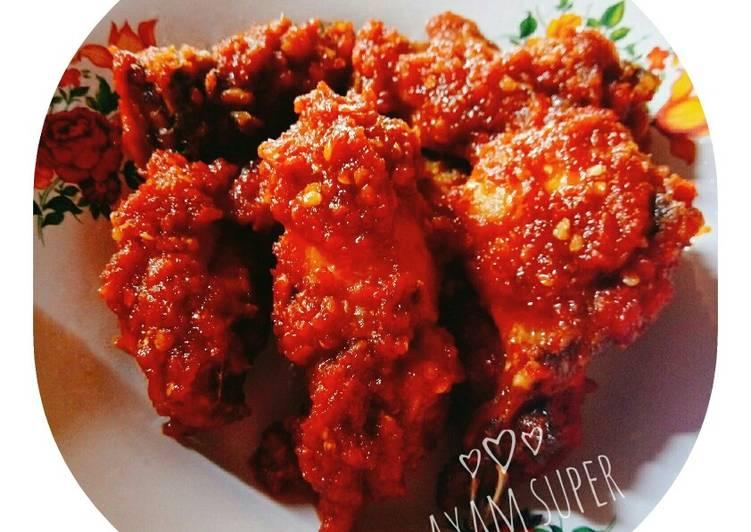 Ayam huh hah (ayam super pedas)