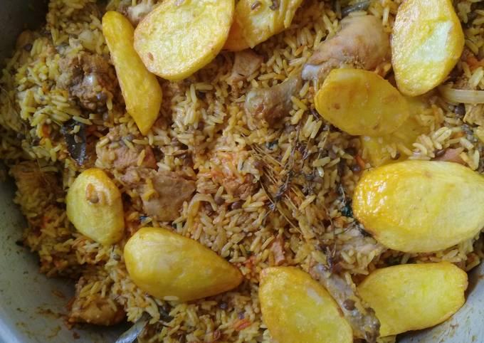 Chicken Breyani & Dhall