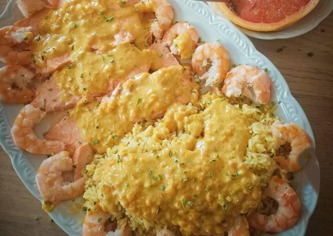 Truites crevettes au curry au Cook Expert