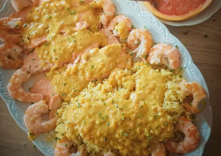 Comment Cuisiner Truites crevettes au curry au Cook Expert