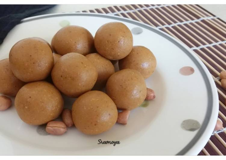 Easiest Way to Make Super Quick Homemade Peanuts laddu