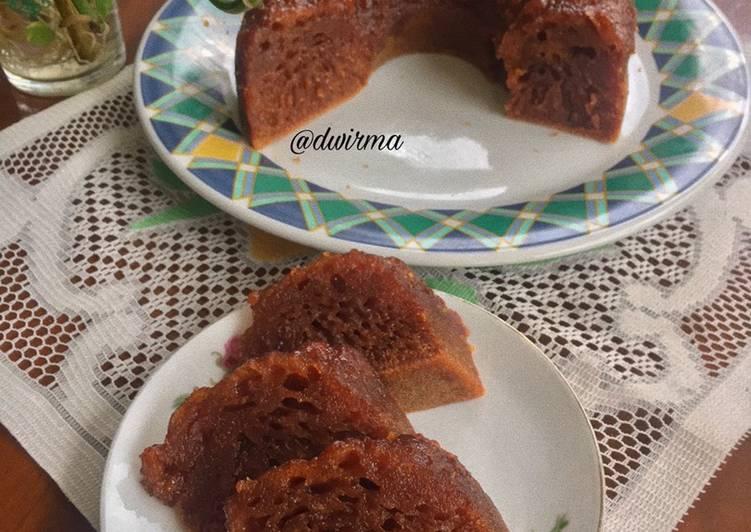 resep masak Bolu Karamel Kukus (Sarang Semut) Anti Gagal - Sajian Dapur Bunda