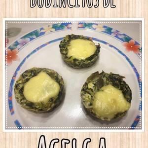 Budincitos de acelga muy fácil, dietético y sin harina (Tarta)