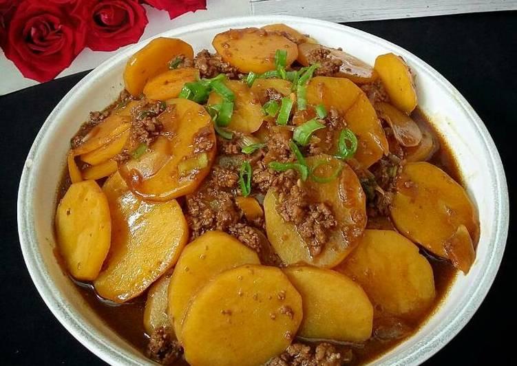Resep Kentang Kecap Daging Cincang Oleh Susan Mellyani Cookpad