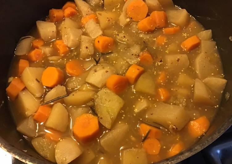 Comment Préparer Les Carottes navets et pommes de terre au citron confit et moutarde à l ancienne