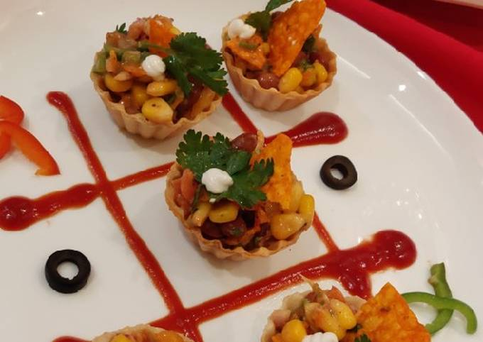 Mexican corn and bean chaat