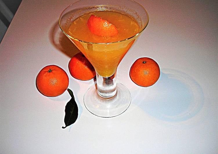 Gelatina de mandarinas con sacarina