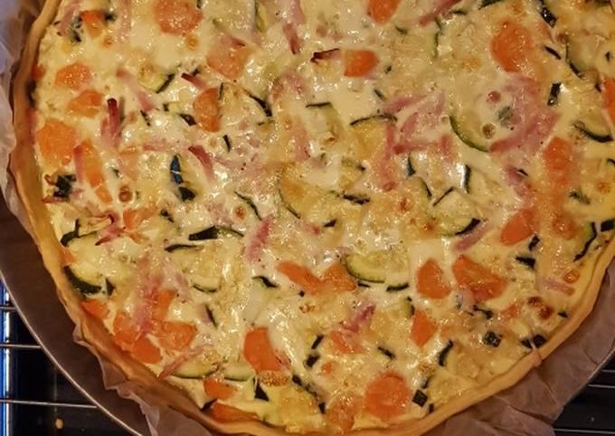 Quiche courgette carotte allumette de poulet