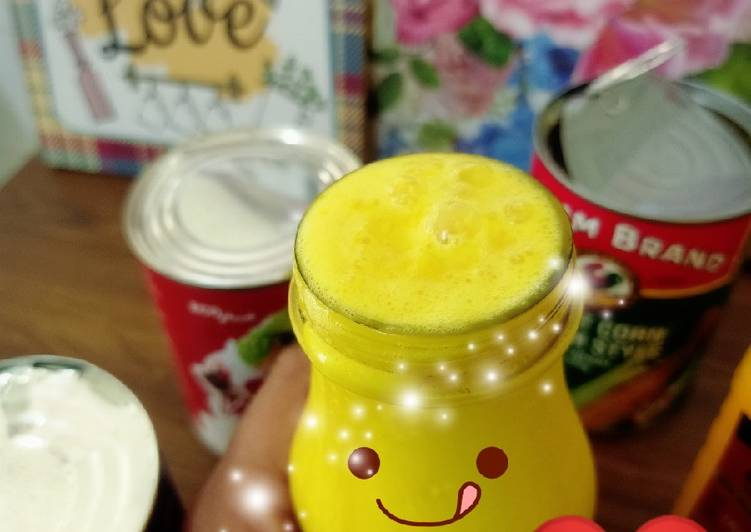 Air jagung creamy 😋 #MaratonRaya #Minuman - resepipouler.com