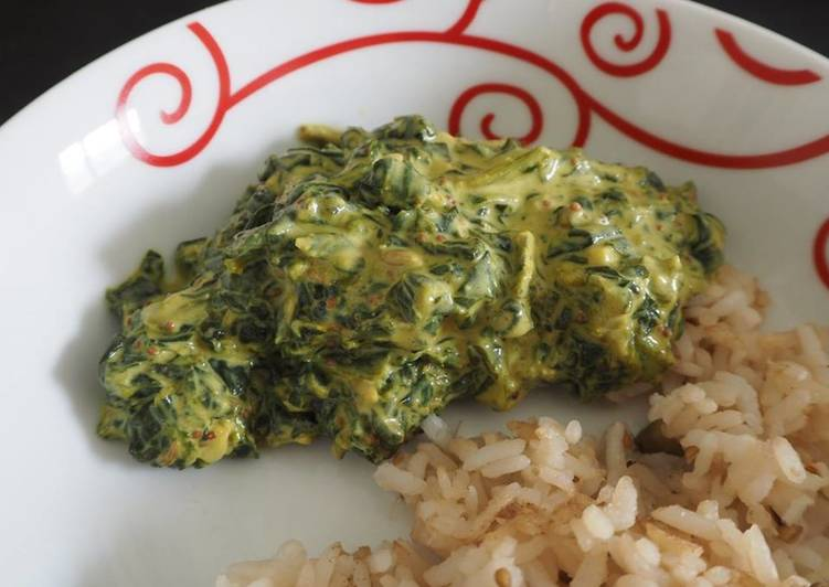 Palak Panir (Recette indienne : Epinards au fromage)