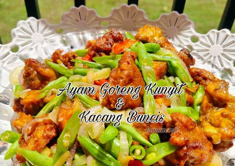 Ayam Goreng Kunyit & Kacang Buncis - velavinkabakery.com