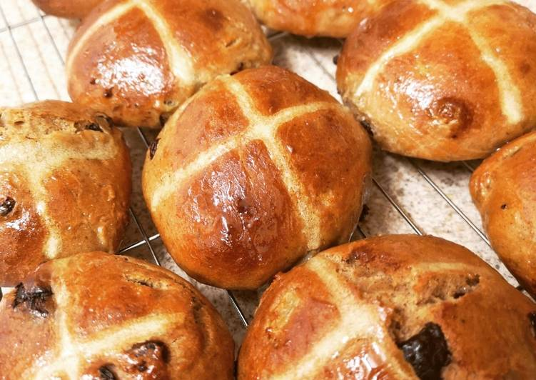 Recipe of Favorite Pear & Dark Chocolate Hot Cross Buns
