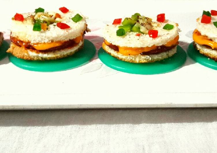Recipe: Tasty Cheesy Sandwich Burger disc