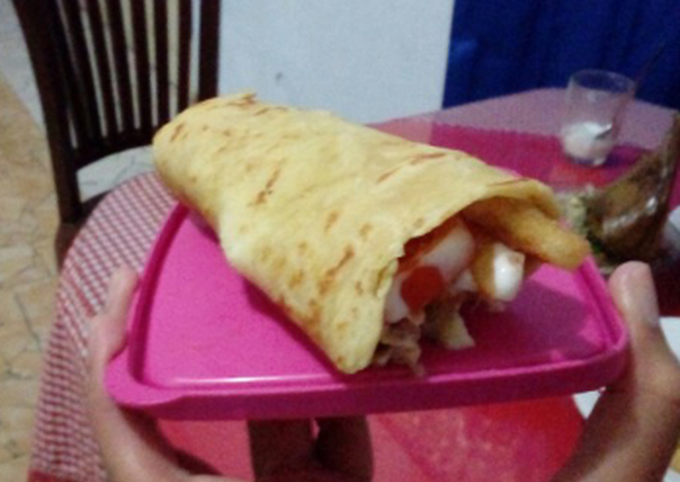 Chicken Shawarma/Chicken Wrap with French Fries