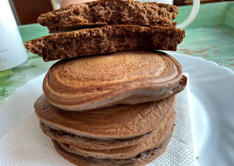 Tortitas de avena de chocolate