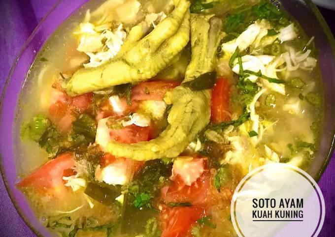 Soto Ayam Kuah Kuning Segar