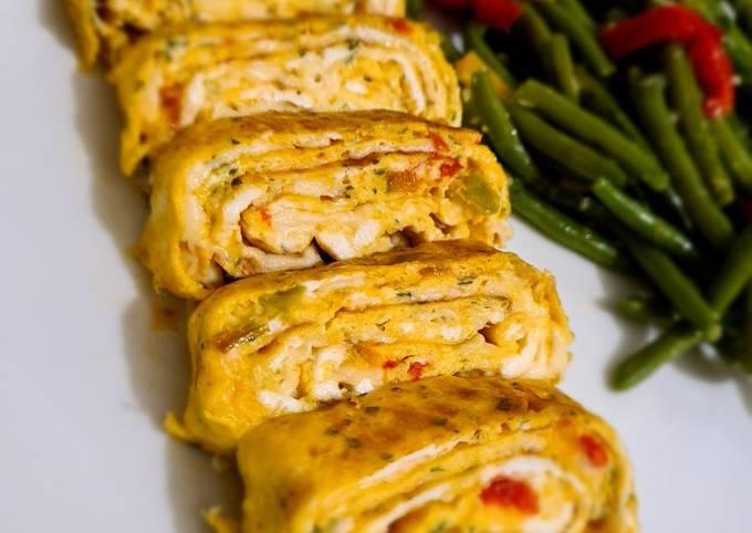 Omelette roulé