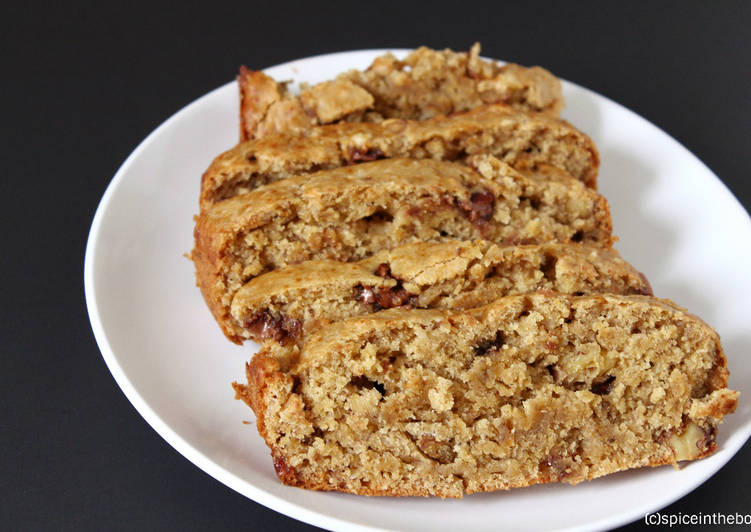 Vegan Whole wheat-Oats- Banana Bread