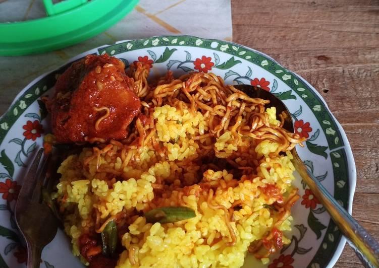 Nasi kuning masak habang khas khas kalteng