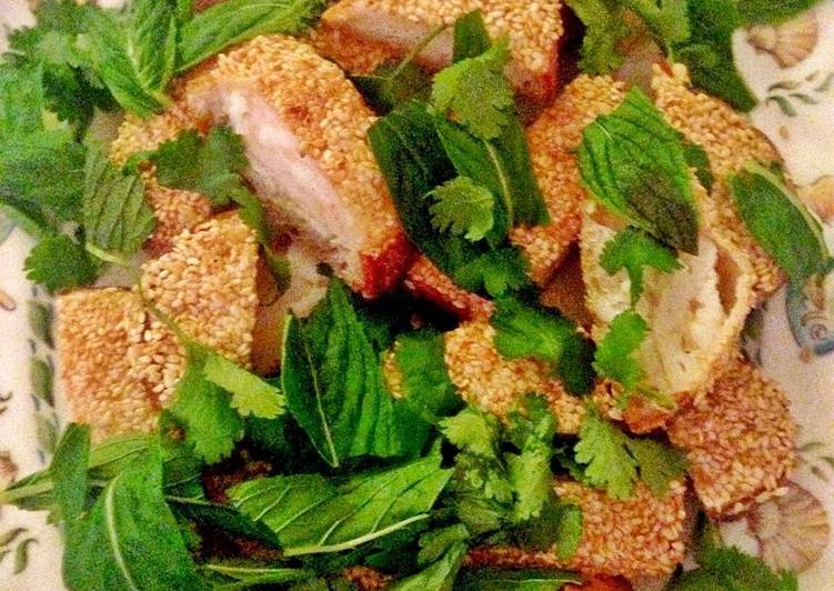 Going Green for Good Health By Eating Superfoods, Prawn Toast with Yuzu Mayo, Coriander and Mint