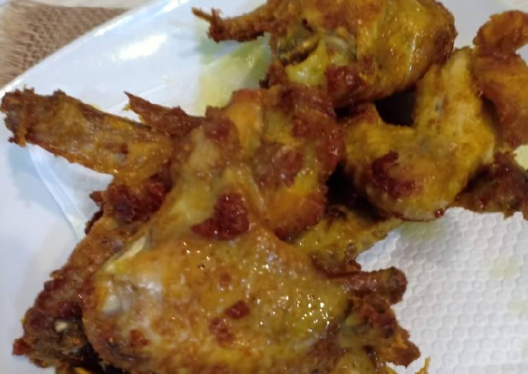 Begini Cara Membuat Sayap Ayam Kuning #AyamGoreng, Sempurna