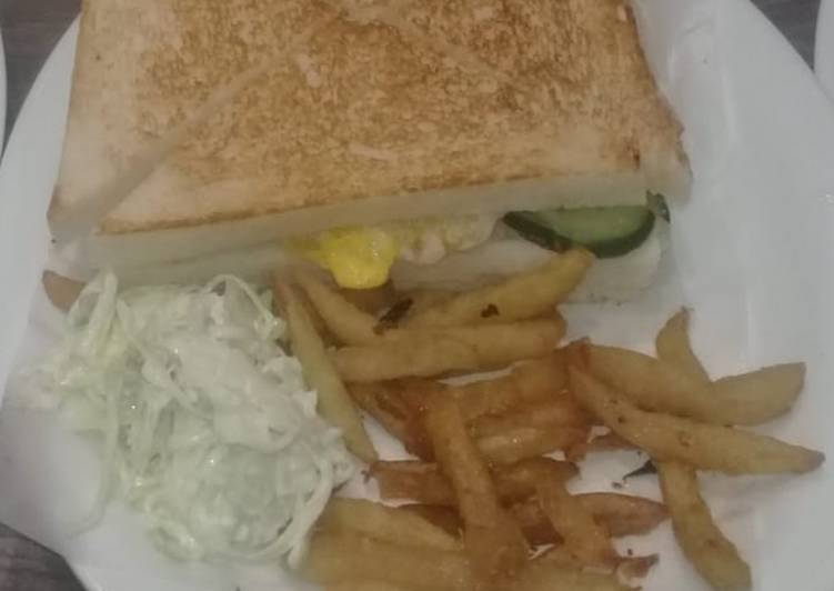 Easiest Way to Make Ultimate Sandwich with fries