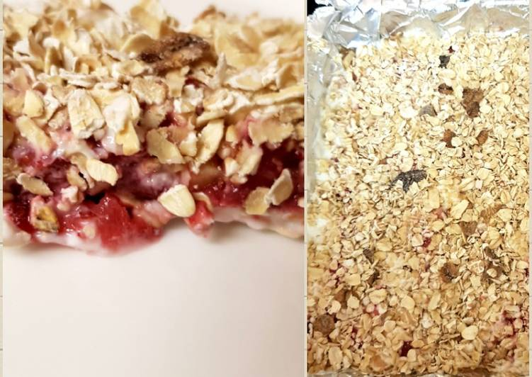 How to Make Speedy My Strawberry no bake cereal bars. 😁