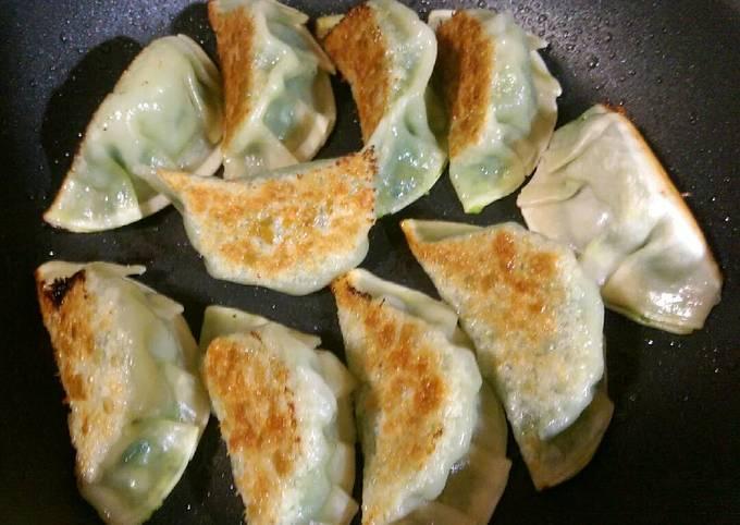 Gyoza style seafood dumplings