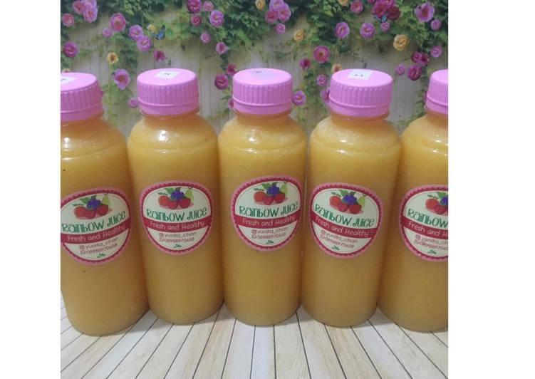 Resep Diet Juice Passion Fruit Golden Melon Mango Pineapple