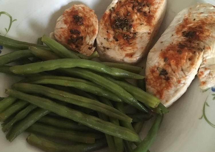 Comment Cuisiner Escalope de poulet en papillote avec haricots verts frais