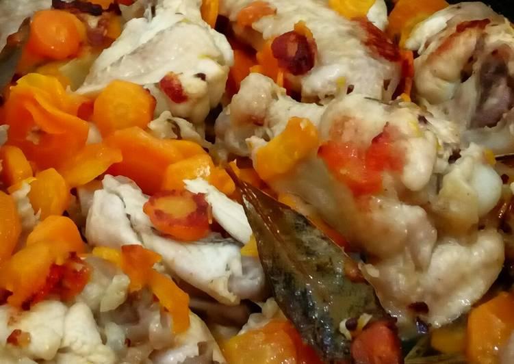 Alette di pollo con carote,di nonna Sinella (ricetta light)