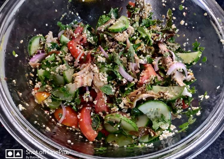 Tabbouleh Salad  Healthy salad fr breakfast includes vitamins,protein and carbs