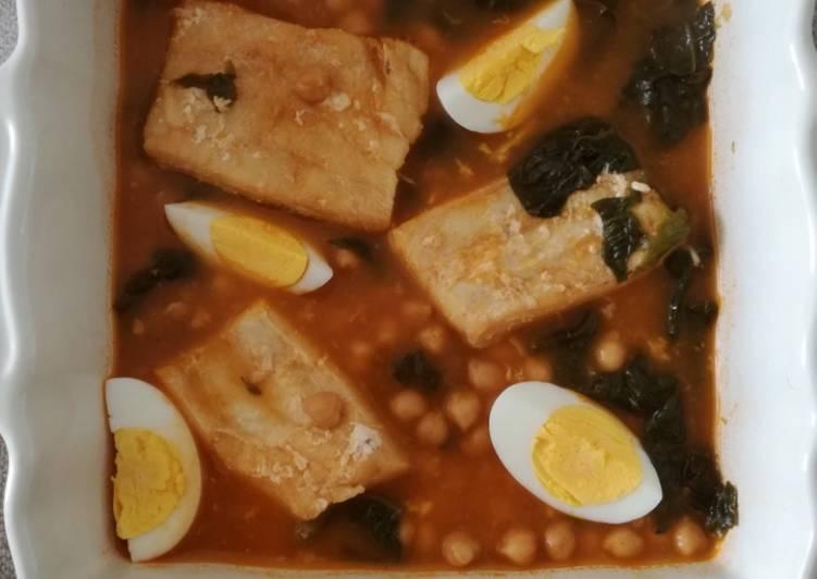 Façon la plus simple Cuisiner Savoureux Potage de la veillée de Pâques typique d'Espagne à ma manière
