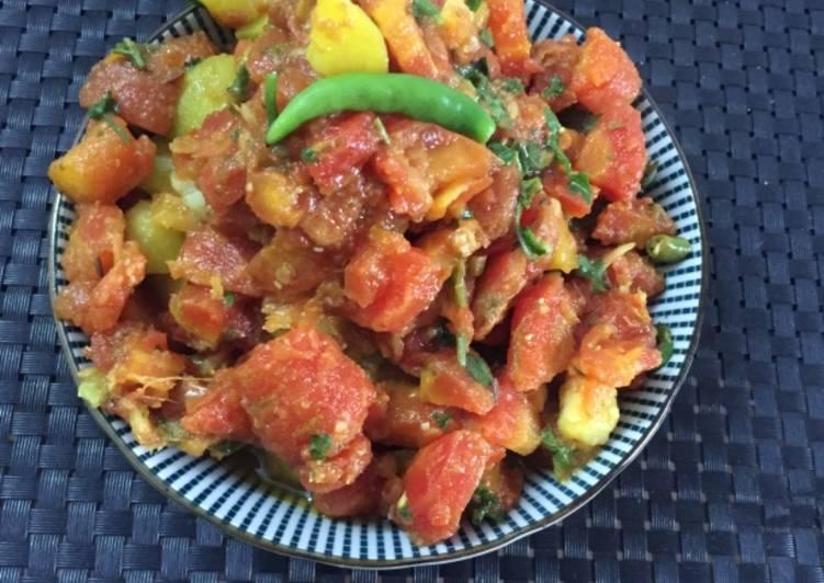 Carrot potato dry sabji