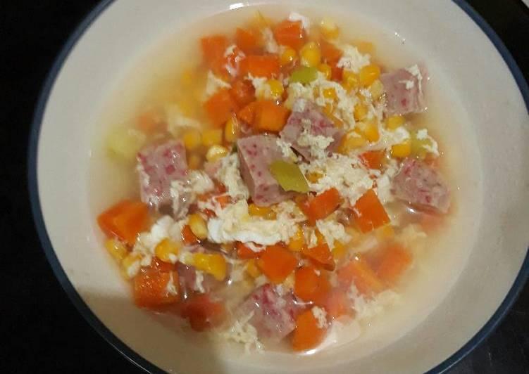 6 Resep: Vegetable hot soup ala momo😍 Kekinian