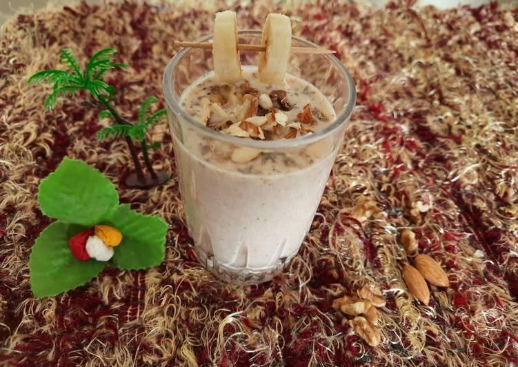 Recipe of Quick Banana walnut Milkshake