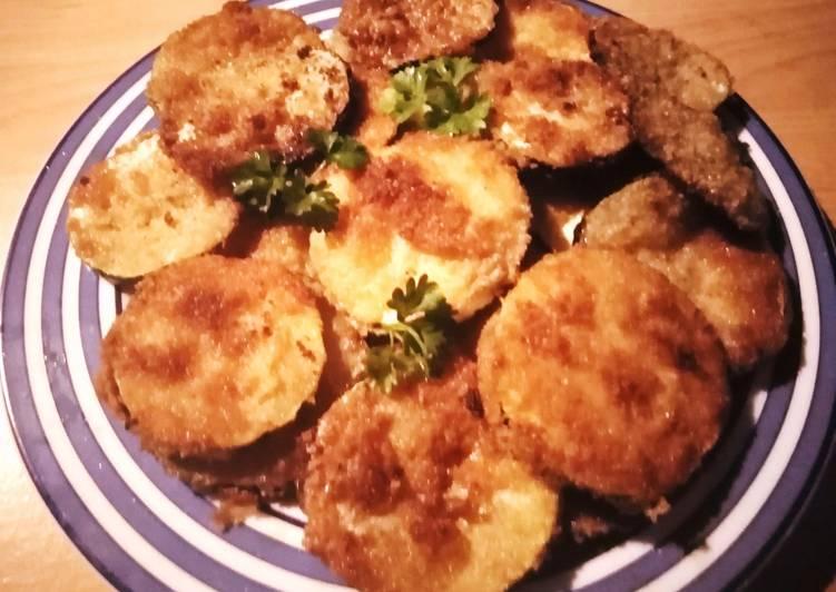 Ricetta Zucchine fritte al gratin