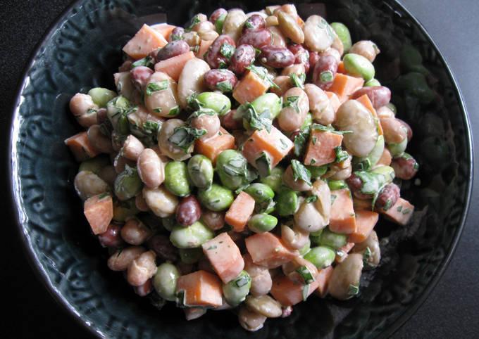 Mixed Beans Wasabi Mayo Salad