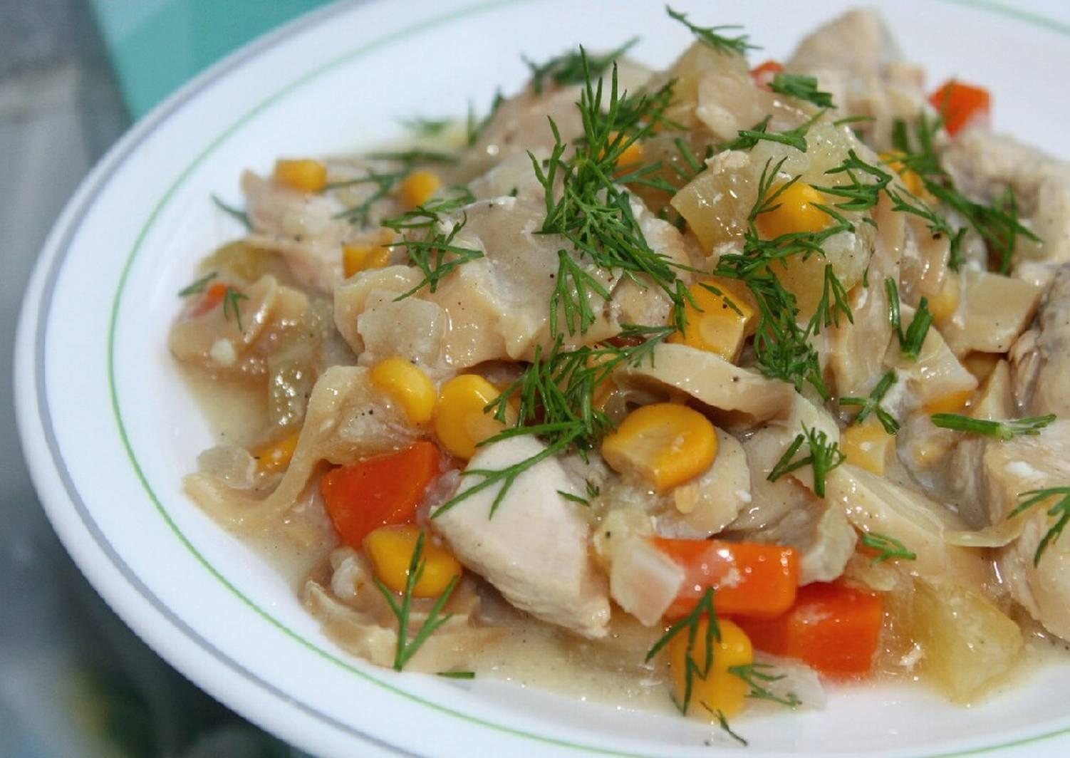 жаркое из курицы рецепт с фото пошагово первых шагов