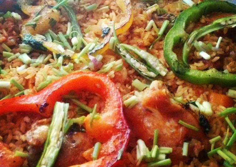 Simple Way to Prepare Favorite Chicken Paella