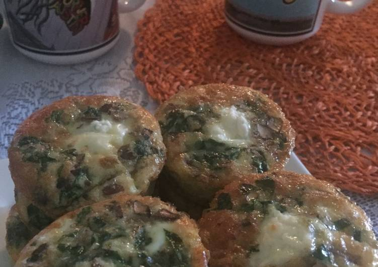 Recipe: Yummy Spinach & Mushroom Quiche