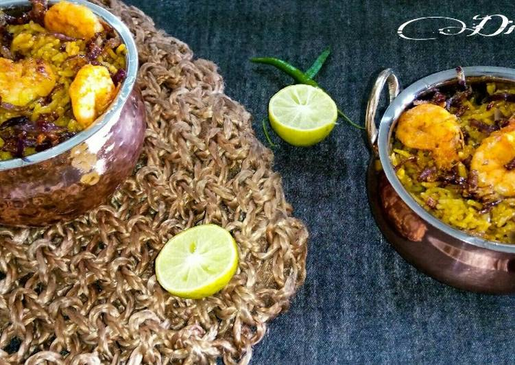 Spicy Prawn Biryani :-