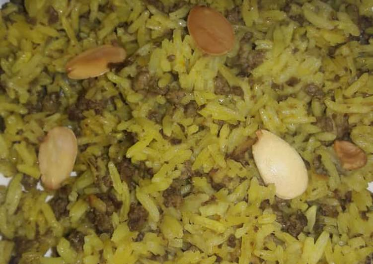 Jollof rice with miced beef