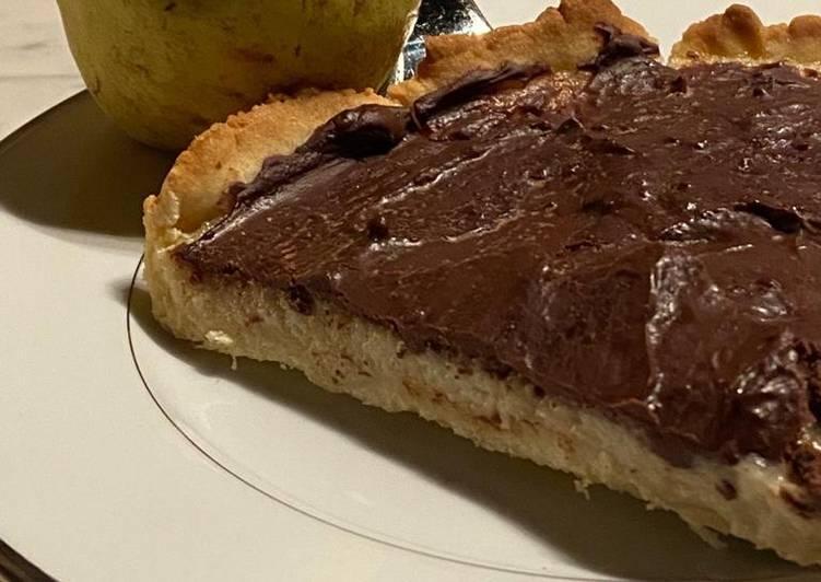 Comment Servir Tarte choco-poire