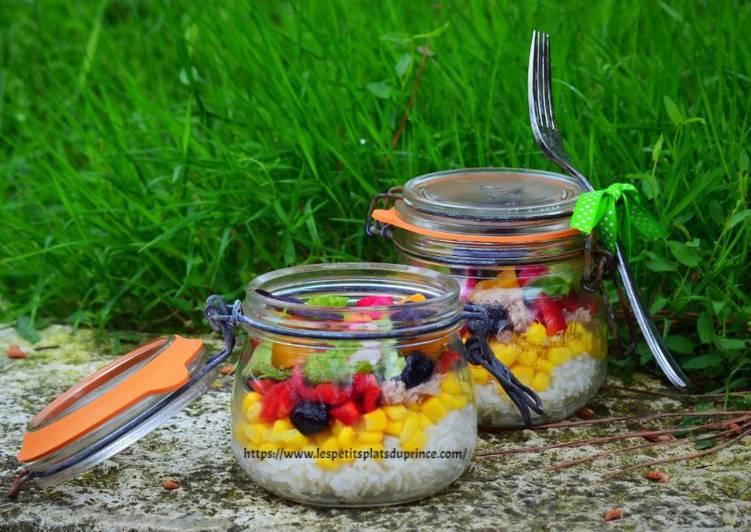 Salade Jar, la salade en bocaux : salade de riz