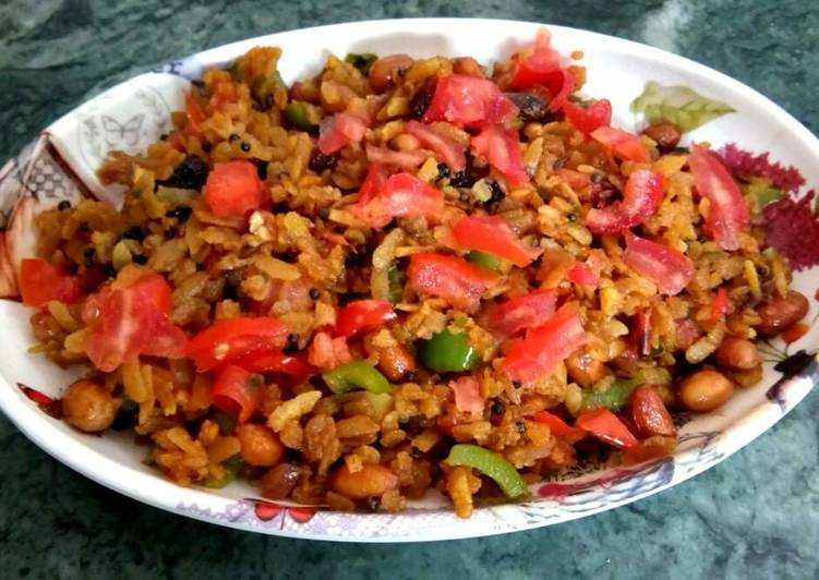 Nuty and veg red flattened rice - Laurie G Edwards