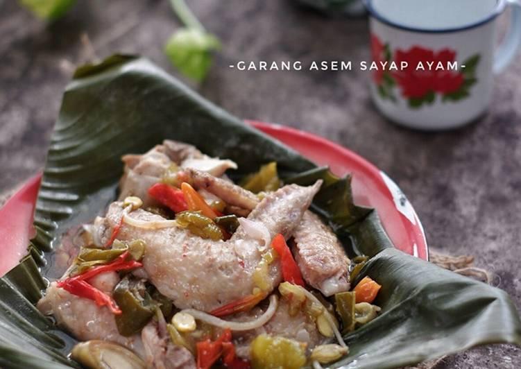Garang Asem Sayap Ayam Simple