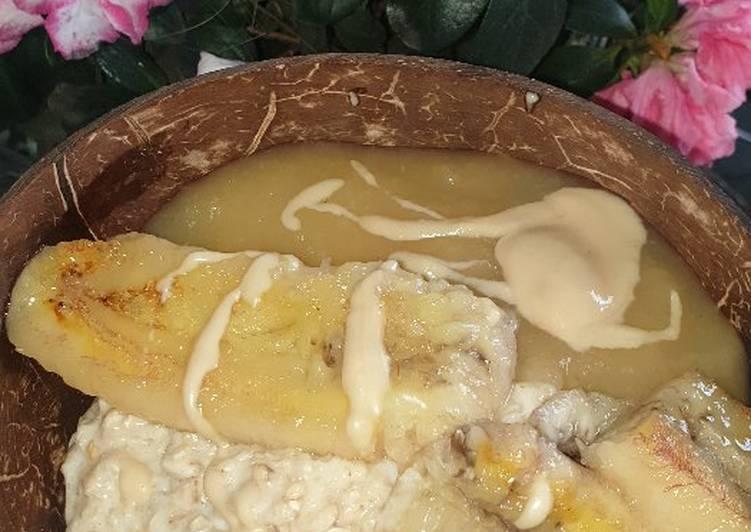 Porridge mit gebackener Banane
