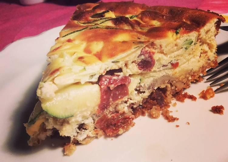 Cheesecake courgette et tomate confite